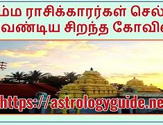 சிம்ம ராசிக்காரர்கள் செல்ல வேண்டிய சிறந்த கோவில்