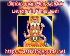 பிரம்ம முஹூர்த்தத்தின் பலன்கள் , சிறப்புகள்