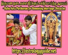 திருமண தடைகளை தீர்க்கும் சக்தி வாய்ந்த ஆலயம் - Rahu Ketu Pariharam for Removing Marriage Obstacles