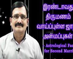 இரண்டாவது திருமணம் வாய்ப்புள்ள ஜாதக அமைப்புகள் - Astrological Factors for Second Marriage