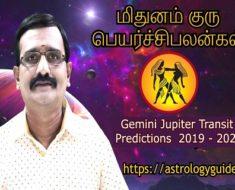 மிதுனம் குரு பெயர்ச்சி பலன்கள் Gemini Jupiter Transit Predictions 2019 2020