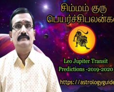 சிம்மம் ராசி குரு பெயர்ச்சி பலன்கள் - Leo Jupiter Transit Predictions -2019 - 2020