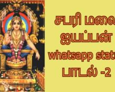 சபரி மலை ஐயப்பன் whatsapp status பாடல் - 2