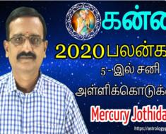 கன்னி 2020-ஆம் ஆண்டு பலன்கள்: 5-இல் சனி அள்ளிக்கொடுக்கும்.