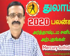 துலாம் 2020-ஆம் ஆண்டு பலன்கள்: அர்த்தாஷ்டம சனியால் அற்புதங்கள்