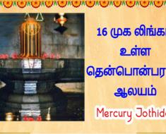 16 முக - லிங்கம் உள்ள தென்பொன்பரப்பி ஆலயம்.