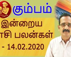 கும்பம் இன்றைய ராசி பலன்கள் - 14.02.2020