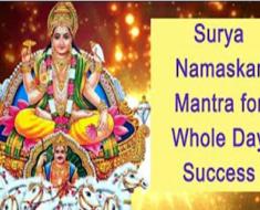 Surya Namaskar Mantra for Whole Day Success