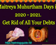 Maitreya Muhurtham Days in 2020 - 2021. Get Rid of All Your Debts