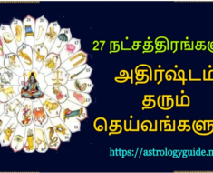 27 நட்சத்திரங்களும் அதிர்ஷ்டம் தரும் தெய்வங்களும்