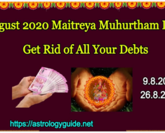 August 2020 Maitreya Muhurtham Days - Get Rid of All Your Debts