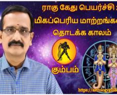 கும்பம் ராகு கேது பெயர்ச்சி 2020: மிகப்பெரிய மாற்றங்களின் தொடக்க காலம்.