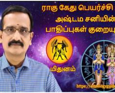 மிதுனம் ராகு - கேது பெயர்ச்சி 2020: அஷ்டம சனியின் பாதிப்புகள் குறையும்