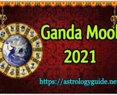 Ganda Mool Dates and Time - 2021