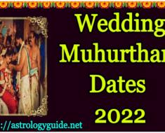 2022 Subha Muhurtham Dates for Wedding