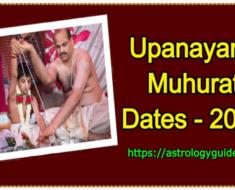 Upanayana Muhurat 2021 Dates