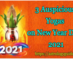 3 Auspicious Yogas on New Year Day, 2021