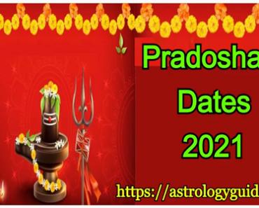 Pradosham Dates 2021