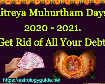 Maitreya Muhurtham Days in 2021-2022
