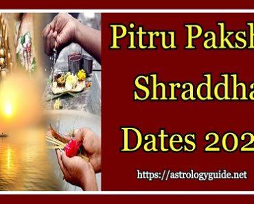 Pitru Paksha Shraddha Dates 2021