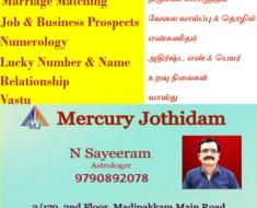 Rasipuram Best Astrologer, Numerologist and Vastu Expert