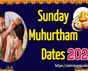 2022 Sunday Vivah Shubh Muhurat Dates